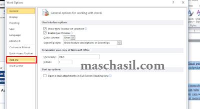 Cara Menampilkan Add-ins di Microsoft Word
