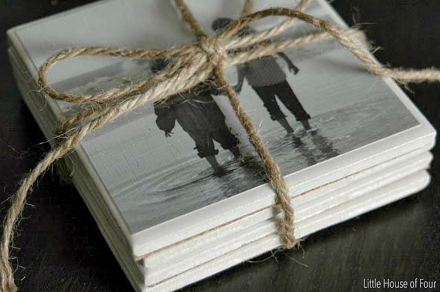 DIY coasters with photos