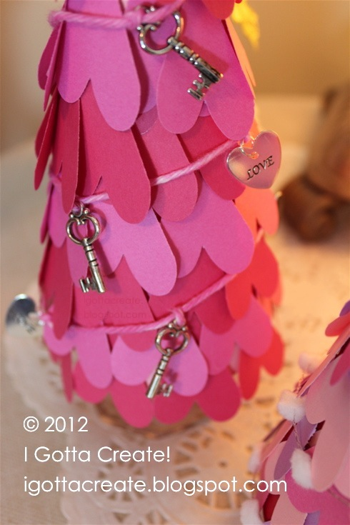 #Valentine heart paper cone trees! | tutorial at I Gotta Create!