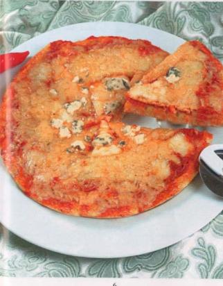 بيتزا بأربعة أنواع جبن
