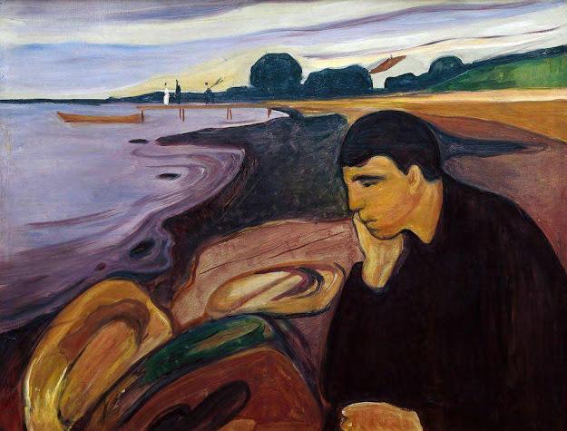 لوحة الاسى للفنان النرويجي ادفارد مونش