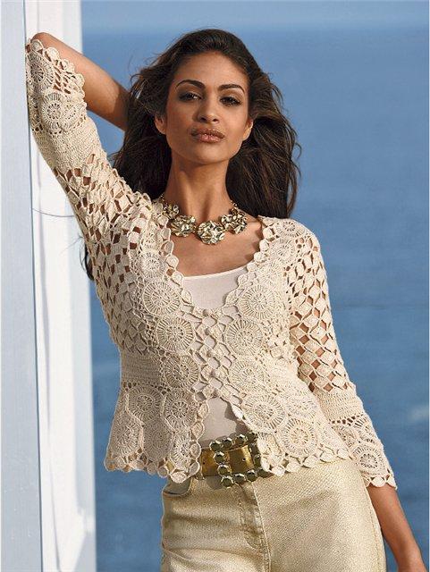 abbe38304dea Uncinetto d oro  Bellissima giacca color di panna!!!