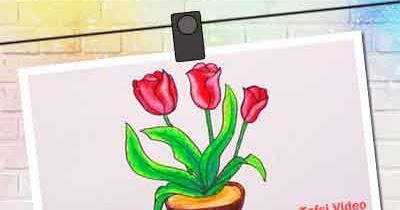 28+ Sketsa Gambar Bunga Beserta Pot Nya - Galeri Bunga HD