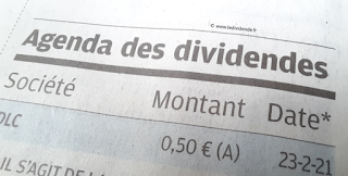 calendrier dividende actions france avril 20 2021
