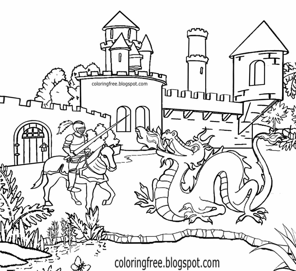 Dragon Knight Coloring Coloring Pages