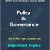 Polity & Governance Important Topics PDF Notes for UPSC Prelims Examination