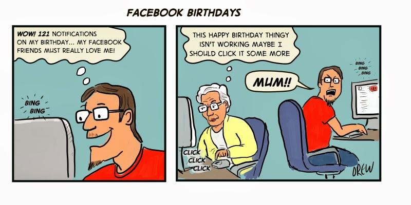 Cartoons I Drew Facebook Birthday