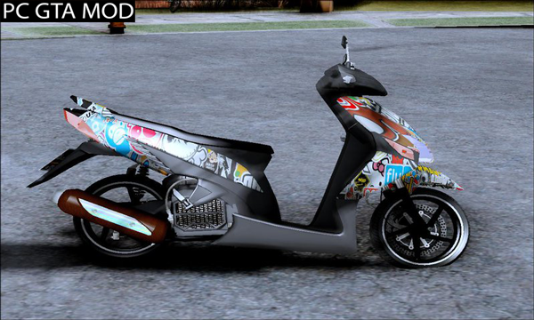 Free Download Honda Vario Stickerz Version Cewek Styles Mod for GTA San Andreas.