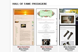 Hall of Fame-Passagiere...