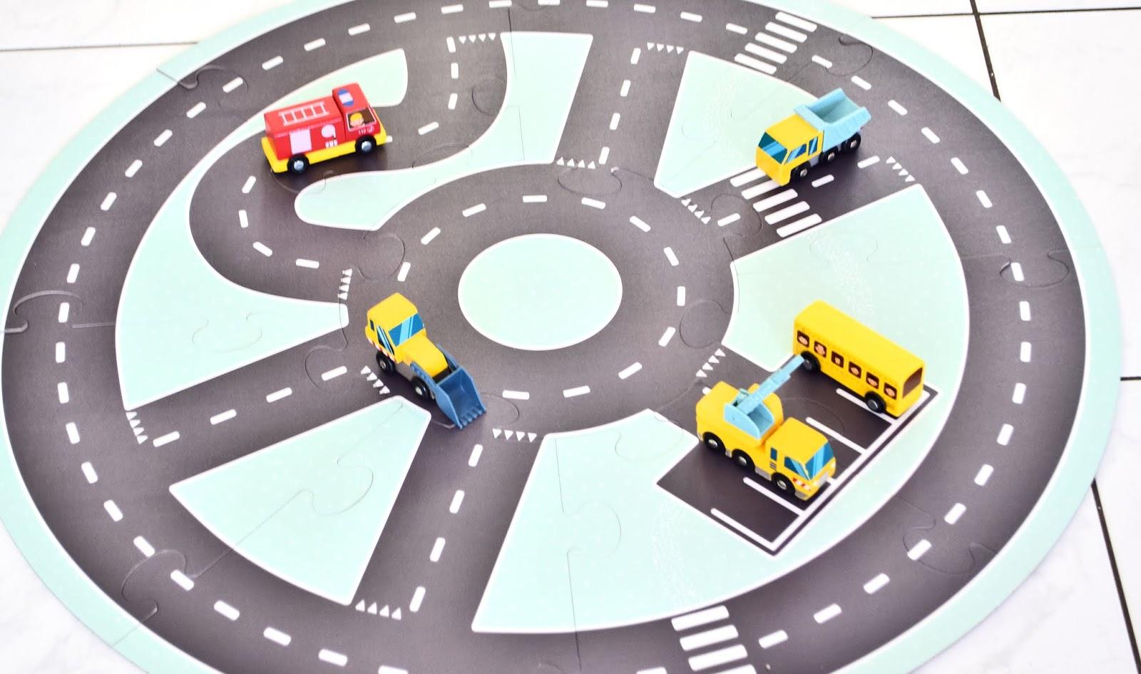 Droga samochodowa do zabawy na podłogę