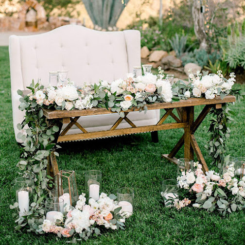 eucalyptus leaves wedding table decorations