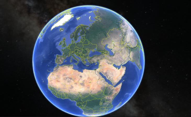 كيف تعمل خرائط الكرة الأرضية من جوجل Google Earth غريبة