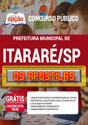 Apostila Concurso Prefeitura de Itararé SP 2020 PDF Edital Online Inscrições