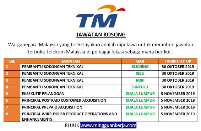 Permohonan Online Jawatan Kosong Terkini Di Telekom Malaysia Mingguan Kerja