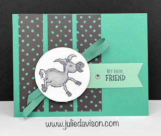 Stampin' Up! Darling Donkeys Card ~ Jan-Feb 2021 Sale-a-Bration  ~ www.juliedavison.com #stampinup