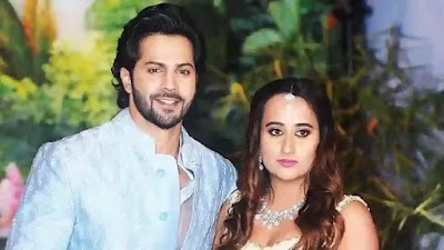 After Marriage Varun Dhawan and Natasha Dalal in front of the media