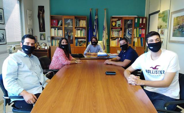 Συνάντηση Δημάρχου Λεβαδέων με εκπροσώπους του Δ.Σ. της Νομαρχιακής Επιτροπής ΟΝΝΕΔ Βοιωτίας