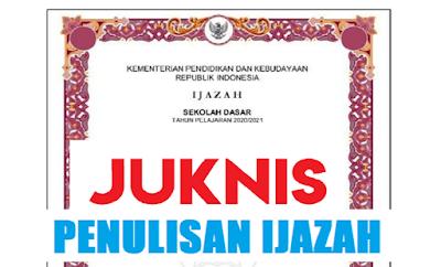 JUKNIS PENULISAN IJAZAH TAHUN PELAJARAN 2020/2021 SD SMP SMA SMK