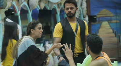 Bigg Boss 12: Sreesanth became captain, then stormed into the house, interrupted Jasleen-Srishti