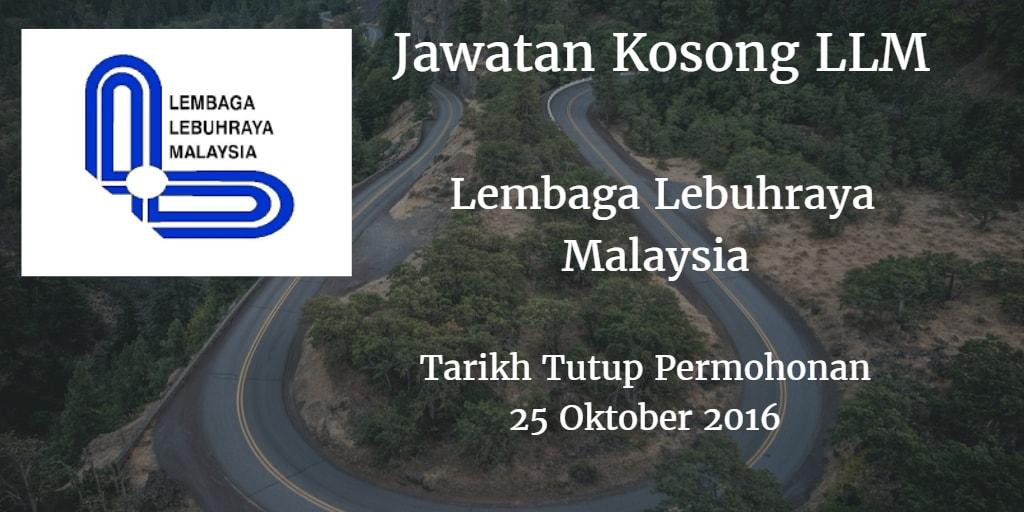 Jawatan Kosong LLM 25 Oktober 2016