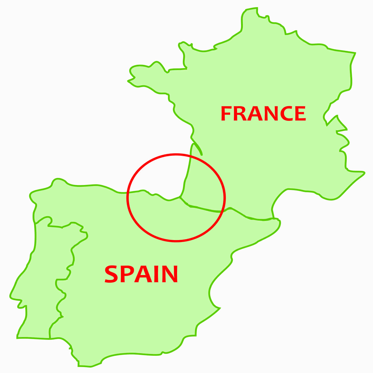 Basque France Map.International Food Blog Spanish And French Basque Country Part 3