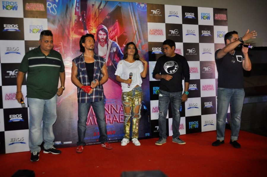 Tiger Shroff and Nidhhi Agerwal at Ding Dang Song Launch