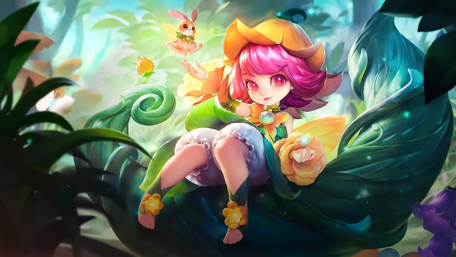 Wallpaper Chang'e Floral Elfo Skin Mobile Legends Full HD for PC