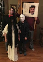 familia disfrazada para halloween