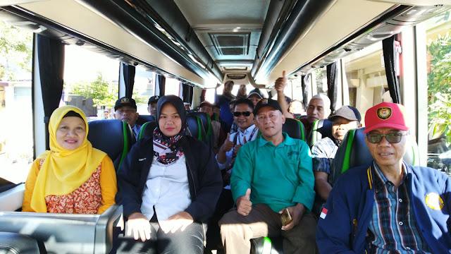 Perjalanan menuju titik jemput di Candi Pawon