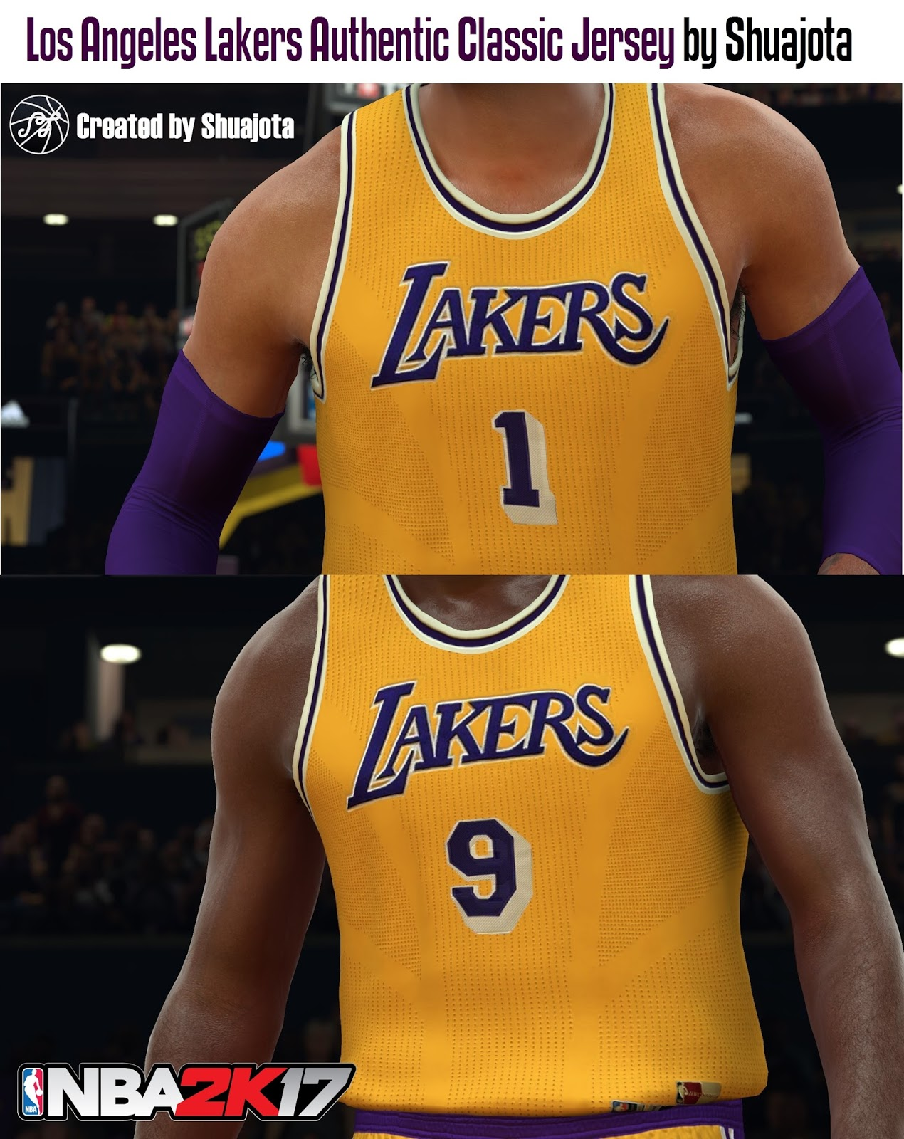 DNA Of Basketball | DNAOBB: NBA 2K17 Los Angeles Lakers Authentic Classic Jersey by Shuajota