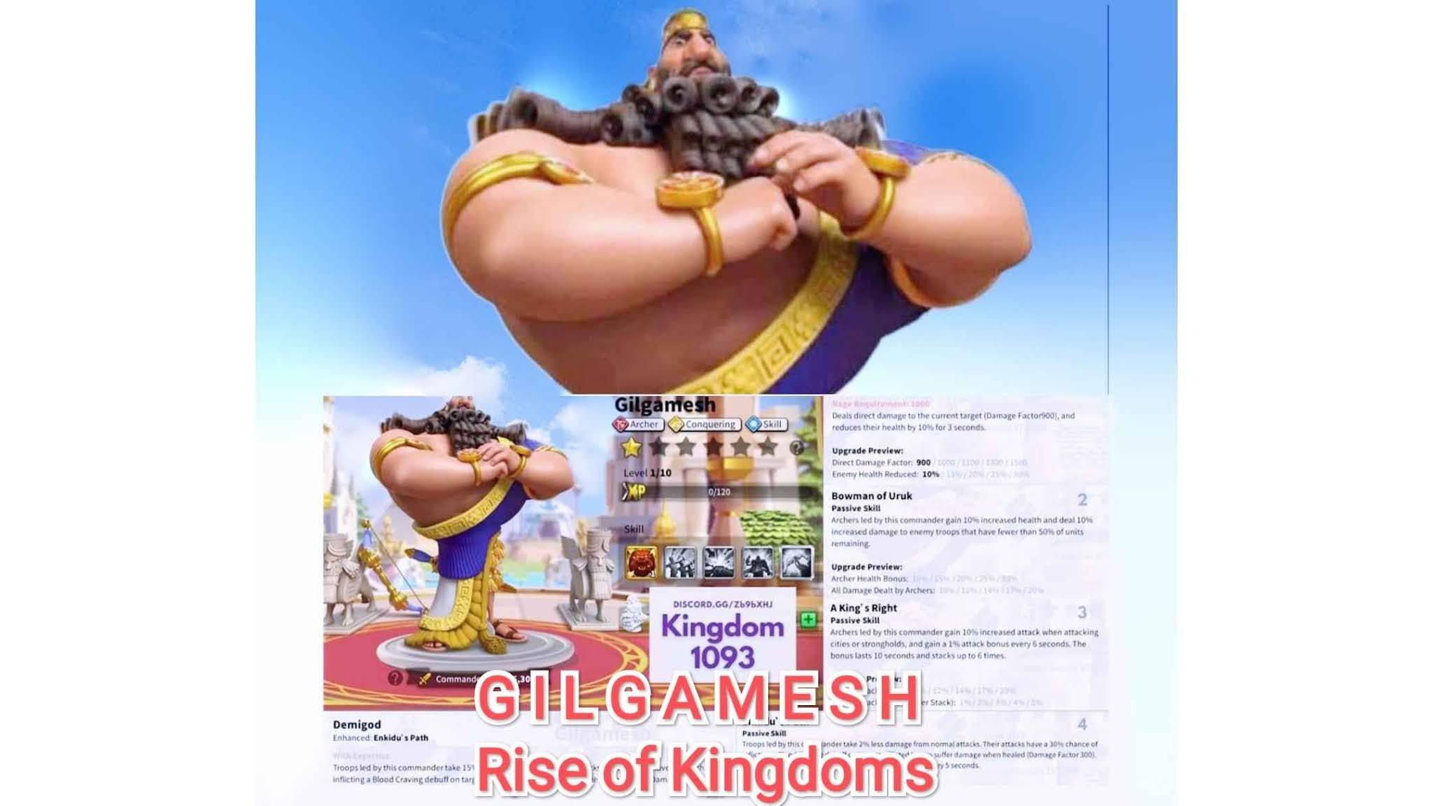 gilgamesh rise of kingdoms pair pasangan