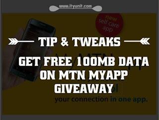 mtn free 100mb data