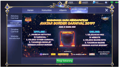 Cara Mendapatkan Avatar Border Di event carnival mobile legend || Bit.ly/mlbbcarnival