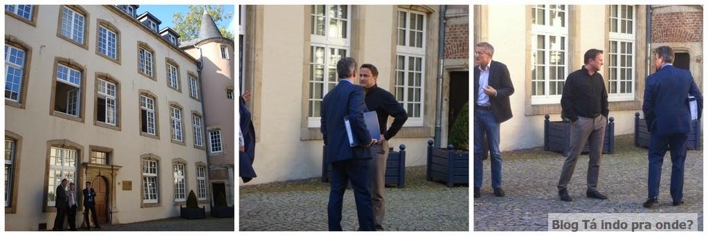 encontrando o Primeiro Ministro de Luxemburgo