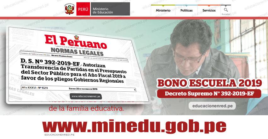 YA ES OFICIAL: Autorizan transferencia para el pago del Bono Escuela 2019. Toda la información aquí