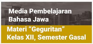 Materi Pembelajaran Bahasa Jawa, Geguritan Kelas XII, Semester Gasal