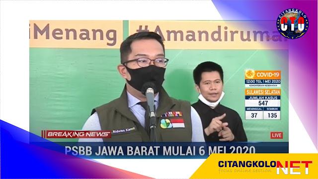 PSBB Provinsi Jabar Berlaku Mulai 6 Mei 2020