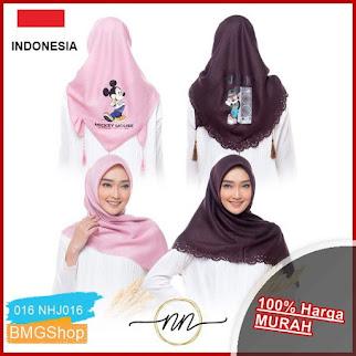 NHJ016 Jilbab Shinar Glamour Sablon Ronce BMGShop