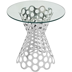 Contemporary Glass Accent Table
