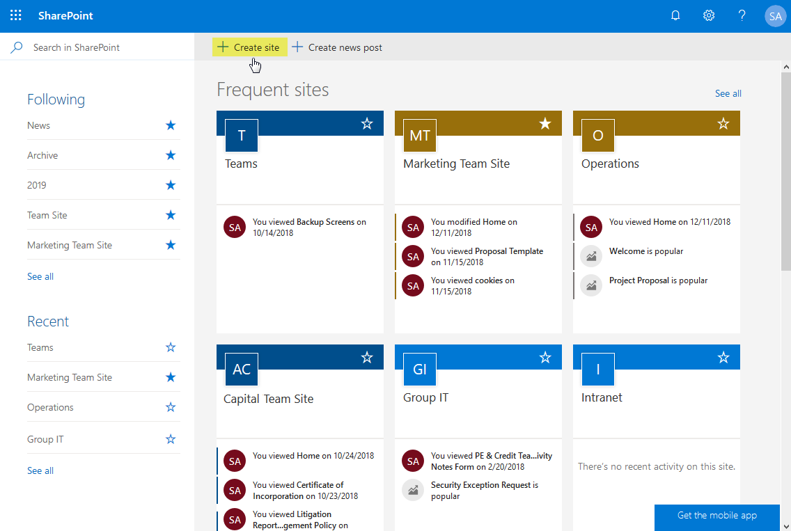 create modern communication site sharepoint