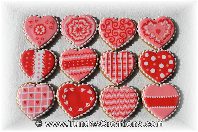 Valentine's wet on wet heart cookies by Tunde Dugantsi