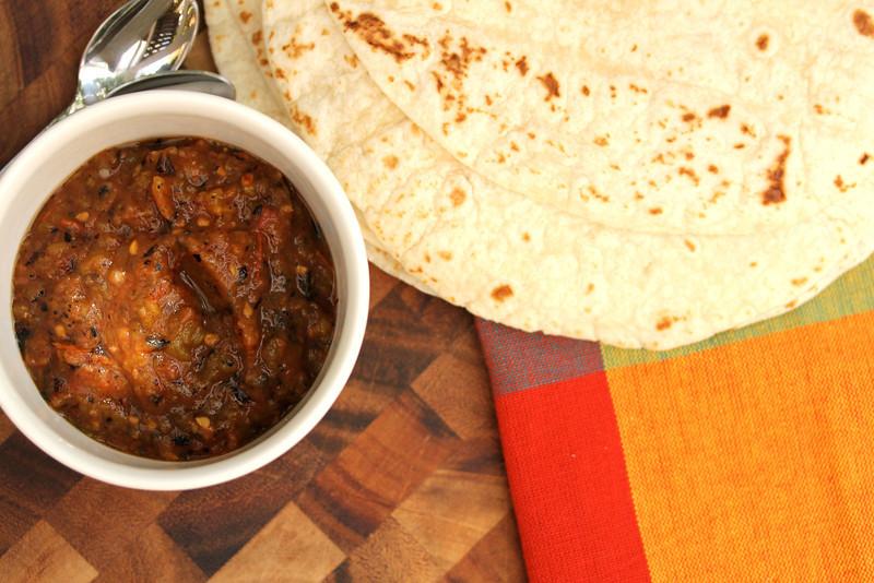 Jalapeño and tomato salsa