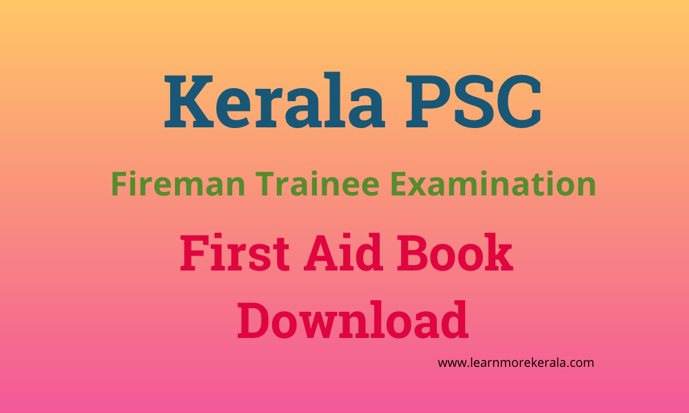 PSC Fireman First Aid Book