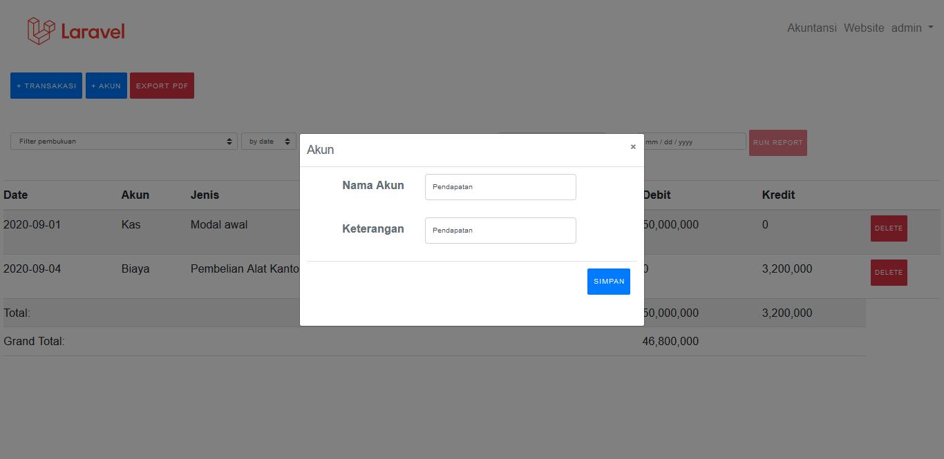 aplikasi akuntansi online murah, software accounting , program akuntansi pembukuan admin