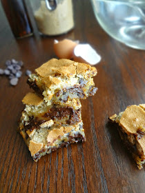 Chocolate Chip Cookie Mud Hen Bars