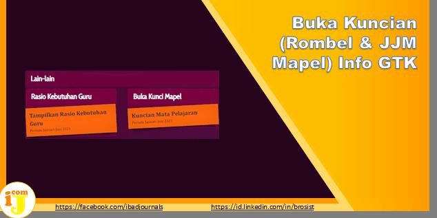 Buka Kuncian (Rombel & JJM Mapel) Info GTK