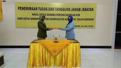 Pelantikan Wakil Ketua 1 Dharma Pertiwi Korcab NTB Daerah J