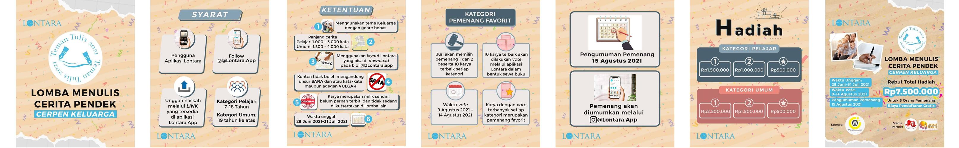 Lomba Menulis Cerpen Berhadiah Total 7,5 Juta Rupiah oleh Lontara App