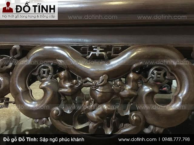Sập ngũ phúc khánh - Sập gỗ cao cấp Hải Minh