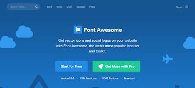 Cara Memasang Dan Menggunakan Icon Font Awesome Di Web